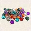 Кубики D20 Прозрачный в ассортименте