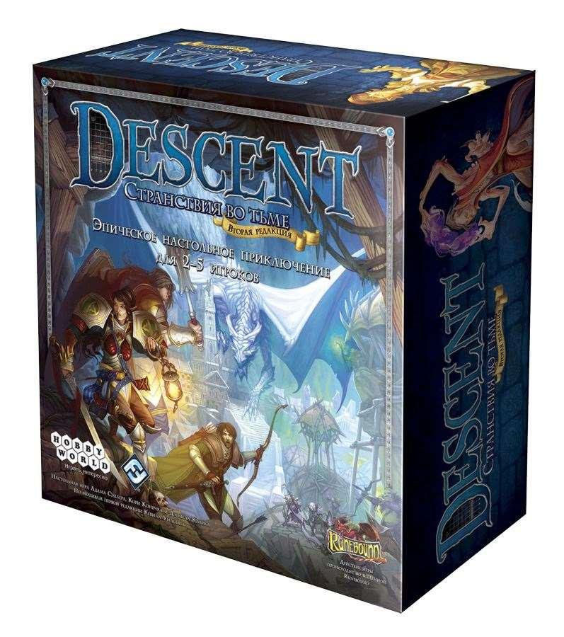 Настольная Игра Descent: Странствия во Тьме (2-е издание) Спуск: Путешествия во тьме (2-е издание)