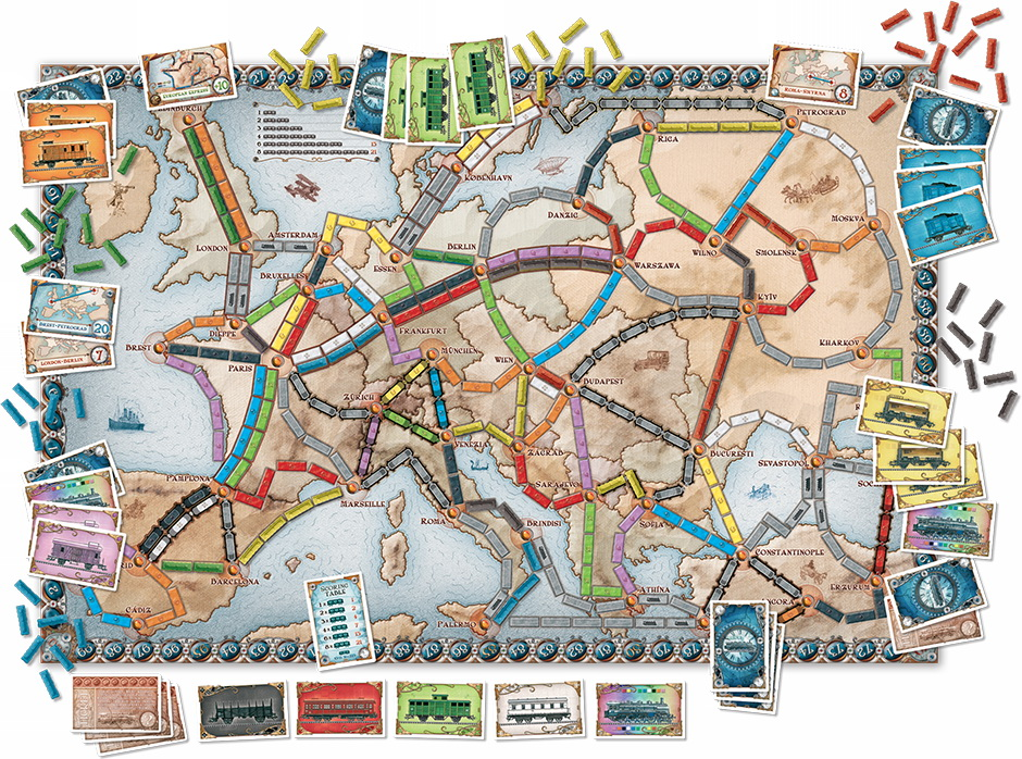 Настольная игра Билет на Поезд/Ticket to Ride