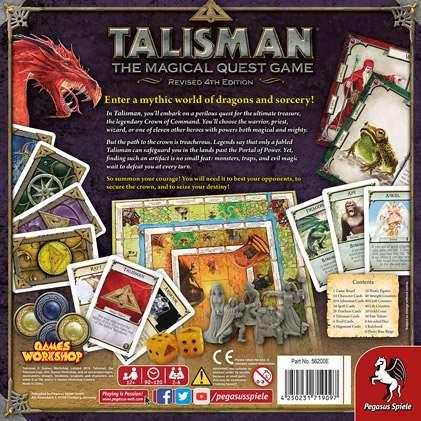 Talisman (Талисман). Обратная сторона коробки
