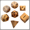 Набор металлических кубиков. Античное золото