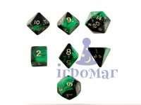 Набор Кубиков Разного Типа 7шт: Зеленый