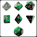 Набор Кубиков Разного Типа 7шт. Зеленый