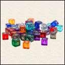 Кубики D6 Прозрачный в ассортименте