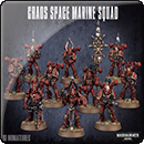 Warhammer 40000. Chaos Space Marines Squad