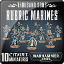 Warhammer 40000. Thousand Sons: Rubric Marines