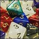 Кубики D8 Перламутр в ассортименте