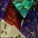 Кубики D4 Перламутр в ассортименте