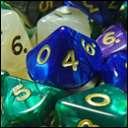 Кубики D10. Перламутр в ассортименте