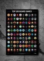Скретч-Постер Топ 100 Настільних Ігор