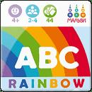 ABC rainbow. Англійська абетка