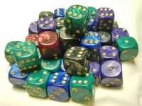Кубики D6 Класические перламутр в ассортименте