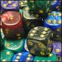 Кубики D6. Класические перламутр в ассортименте