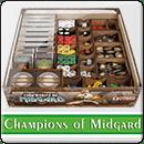 Органайзер для настольной игры Champions of Midgard с 2 дополнениями