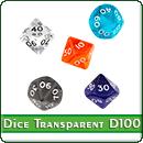 Кубики прозрачные D100