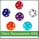 Кубики прозрачные D10