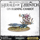 Warhammer Age of Sigmar: Herald of Tzeentch on Burning Chariot / Exalted Flamer of Tzeentch
