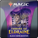 Magic: The Gathering. Throne of Eldraine Black Theme Booster