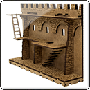 Стена Форта с лестницей