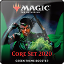 Magic: The Gathering. Core Set 2020 Green Theme Booster
