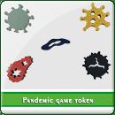 Токени вірусів для гри Пандемія