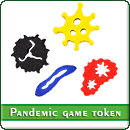 Токены вирусов для игры Пандемия