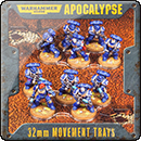 Warhammer 40000. Apocalypse 25mm Movement Trays