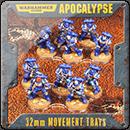 Warhammer 40000. Apocalypse 25mm Movement Trays