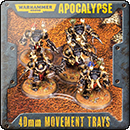 Warhammer 40000. Apocalypse 40mm Movement Trays