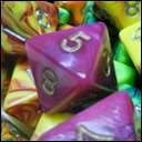 Кубики D8 Toxic в ассортименте