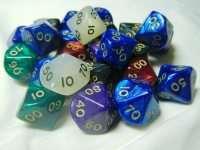 Кубики D10 перламутр процентный в ассортименте
