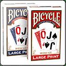 Покерні карти Bicycle Large Print