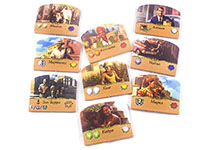 Настольная игра - Santiago de Cuba (Сантьяго-де-Куба): карточки кубинцев, компоненты игры