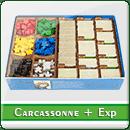Органайзер для настільної гри Carcassonne + доповнення