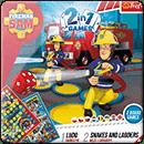Ludo + Snakes & Ladders 2 in 1: Fireman Sam