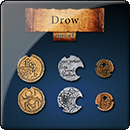 Drow Coin Set