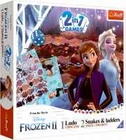 Ludo + Snakes & Ladders 2 in 1: Disney Frozen II