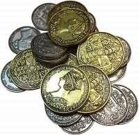 Металеві монети для гри Nanty Narking