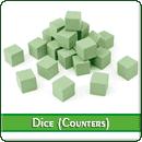 Набор кубиков (каунтеров): Зелёные