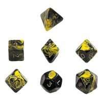 Набор Кубиков Разного Типа 7 шт: Желтый