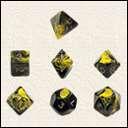 Набор Кубиков Разного Типа 7 шт. Желтый