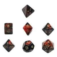 Набір Кубиків Різного Типу 7 шт: Червоний