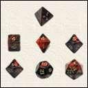 Набор Кубиков Разного Типа 7 шт: Красный