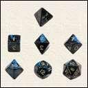 Набор Кубиков Разного Типа 7 шт. Синий