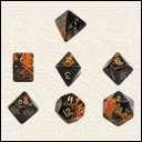 Набор Кубиков Разного Типа 7шт: Оранжевый