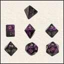 Набор Кубиков Разного Типа 7шт. Пурпурный